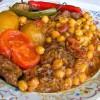 Баранина тушёная с овощами, нутом и грибами