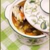 Фасолевый суп с беконом и орзо