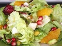 Фруктовый салат с гранатом и апельсином