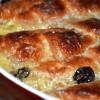 Хлебный пудинг с круассанами