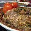 Язык в сливочном соусе с орехами по-грузински