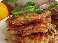 Картофельные блины с салом