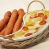 Картофельно-морковная запеканка в молочном соусе