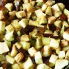 Картофельное рагу со сладким перцем и баклажанами