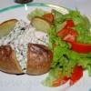 Картошка запеченая в фольге с соусом