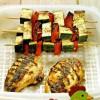 Куриные грудки с овощами на гриле