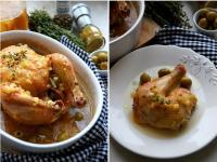 Курица по-мароккански с оливками и солеными лимонами
