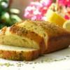 Лимонный хлеб с тмином и фисташками