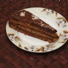 Медовый торт с кремом из халвы