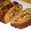 Мясной батон с начинкой из грибов, шпината и маслин
