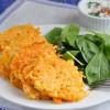 Морковные оладьи с фетой и кумином