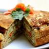 Овощной блинчатый пирог