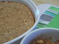 Овсяная каша, запечёная с арахисовым маслом