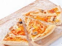Пицца с крабовой начинкой