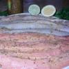 Плетёнка из рыбы с картофельными грибочками и изумрудными шариками