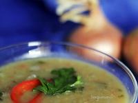 Постный суп из чечевицы с грибами
