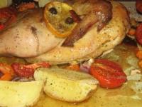 Пряный цыпленок с овощами
