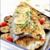 Рыба с йогуртом и запечёными овощами
