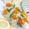 Рыба запеченная под сыром с помидорами