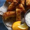 Рыбные палочки с соусом тар-тар