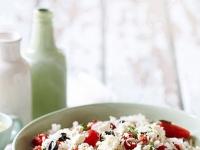 Рисовый салат с фетой