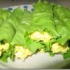 Рулеты с листьями салата