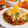 Салат из редьки с апельсиновым соусом