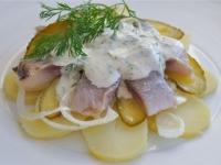 Салат из сельди с картофелем и сливками