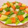 Салат с картофелем и семгой
