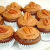 Шоколадные кексы в карамельном креме