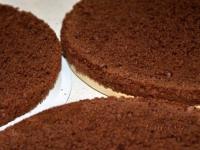 Шоколадно-кофейный торт с абрикосовым джемом (часть 2)