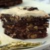 Шоколадно-ореховый торт со сливочным кремом