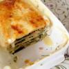 Сырная лазанья с кедровыми орешками и шпинатом