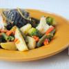 Скумбрия с лимоном и розмарином и картофель с овощами