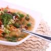 Суп из копченой курицы с фасолью и брокколи