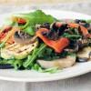 Теплый салат из овощей-гриль и языка
