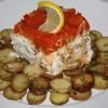 Треска с картофелем под шапкой из сладкого перца