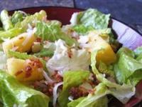 Тропический салат с ананасами