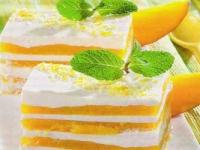 Творожный десерт с манго