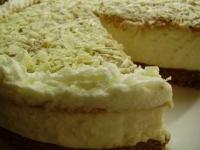 Творожный торт с халвой и мокко (без выпечки)