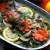 Заливное из горбуши с овощами