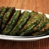 Зелёные оладьи из шпината и брокколи