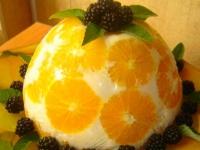 Желейный торт Апельсины в йогурте